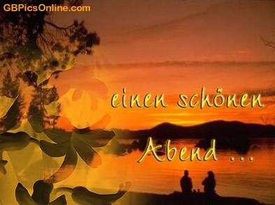 Einen schönen Abend...
