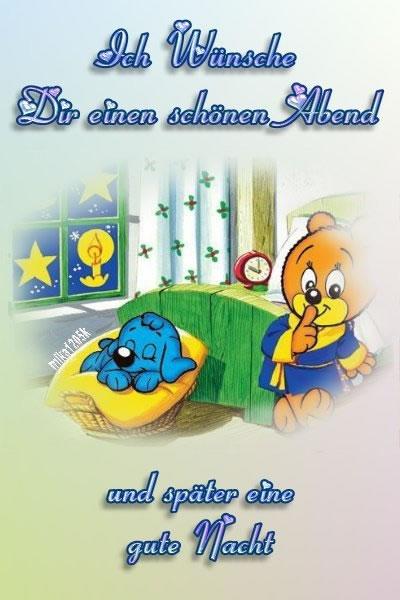 Ich Wünsche Dir einen schönen Abend und später eine gute Nacht.