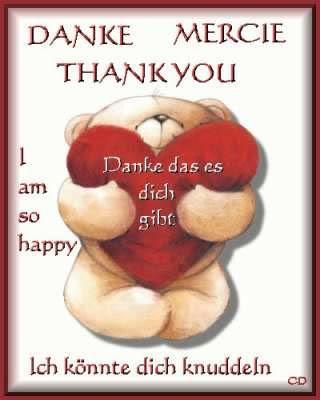 Danke. Mercie. Thank you. I am so happy...