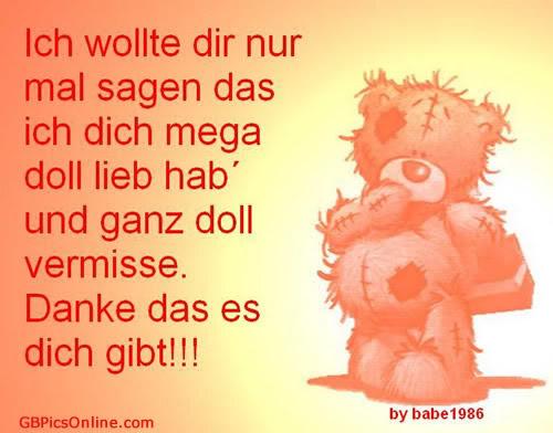 Hab Dich Mega Doll Lieb Bilder Hab Dich Mega Doll Lieb