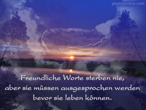 Freundliche Worte sterben nie...