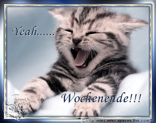 Yeah... Wochenende!!!
