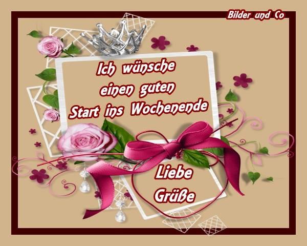 Ich wünsche einen guten Start ins Wochenende. Liebe Grüße.