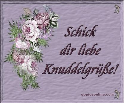 Schick dir liebe Knuddelgrüße!