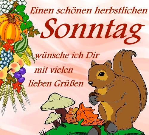 Einen Schönen Herbstlichen Sonntag Wünschen Ich Dir Mit Vielen 22827
