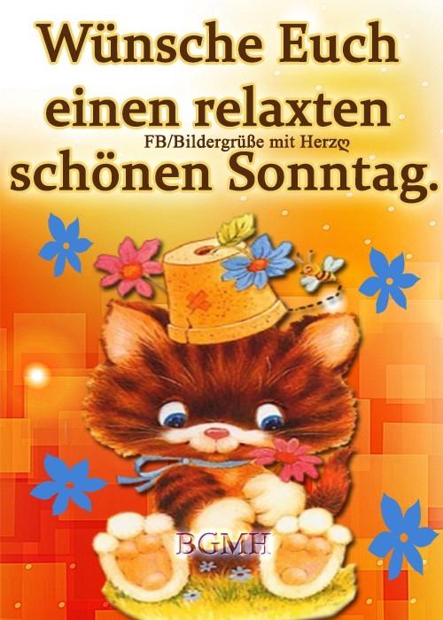 Wünsche Euch einen relaxten, schönen Sonntag.