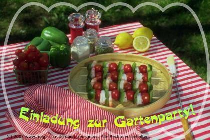 Einladung zur Gartenparty!