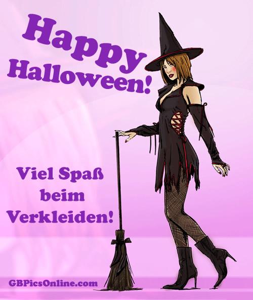 Happy Halloween! Viel Spaß beim Verkleiden!