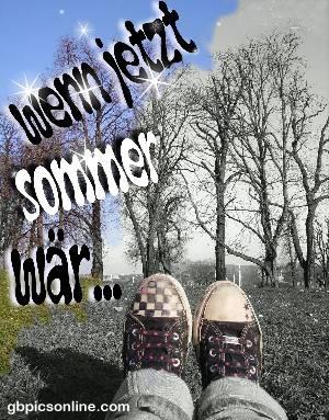 Wenn jetzt Sommer wär...
