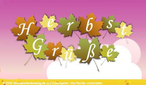 Herbstgrüße.
