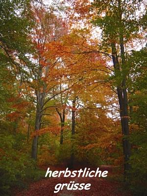Herbstliche Grüße.