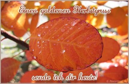 Einen goldenen Herbstgruß sende ich dir...