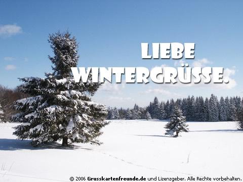 Liebe Wintergrüße.
