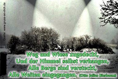 """""""Weg und Wiese zugedeckt..."""
