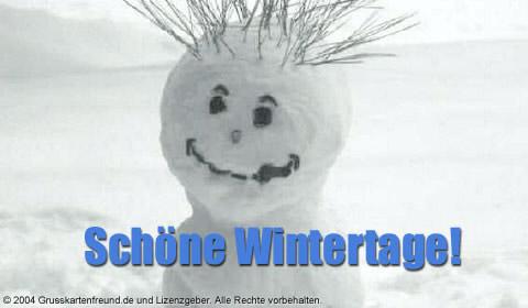 Schöne Wintertage!