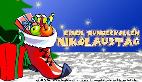 Einen wundervollen Nikolaustag.