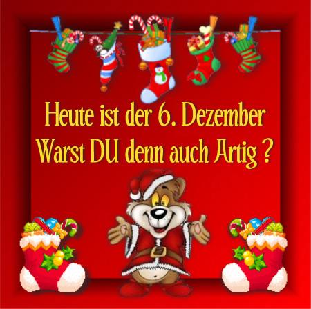 Heute ist der 6. Dezember...