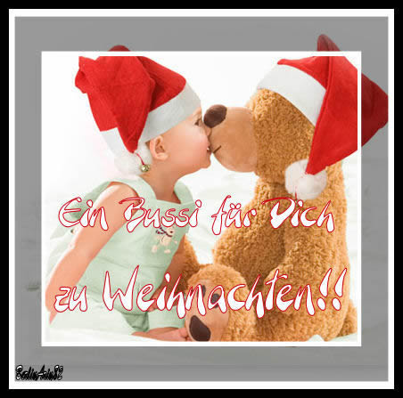 Frohe Weihnachten Ich Liebe Dich.Ein Bussi Für Dich Zu Weihnachten Weihnachtliche Grüße Bild 6057