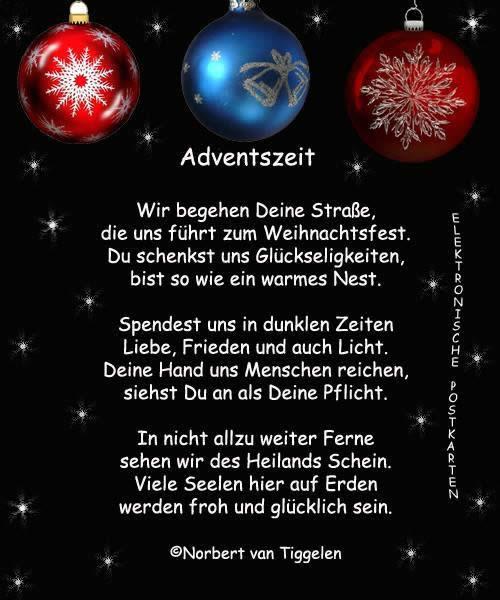 """""""Adventszeit. Wir begehen Deine Straße, die uns führt zum Weihnachtsfest. Du schenkst uns Glückseligkeiten, bist so wie..."""
