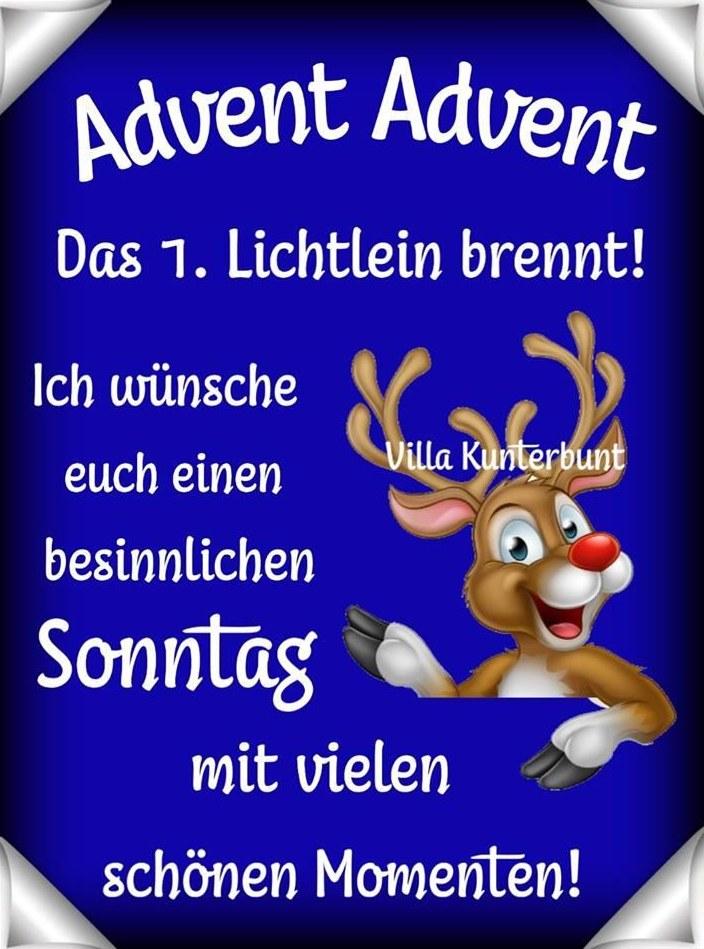 Advent, Advent; das 1. Lichtlein brennt!...