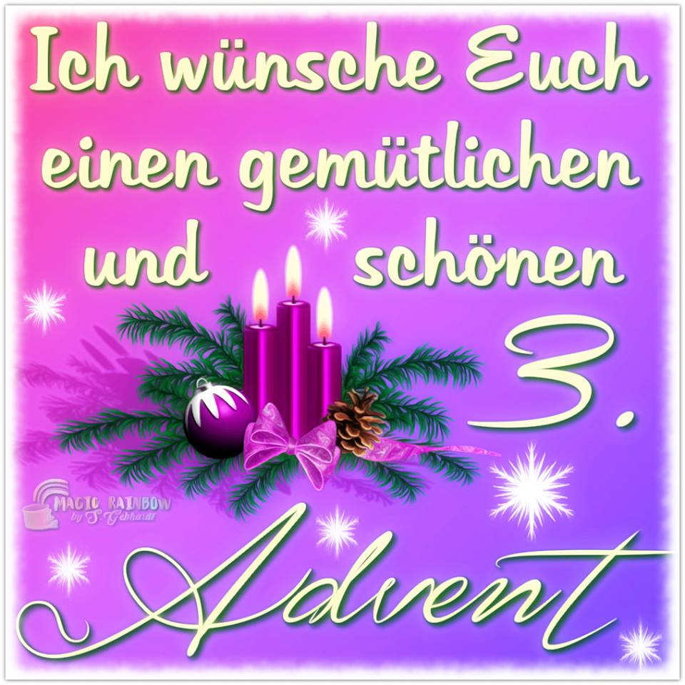 ᐅ 3 Advent Bilder 3 Advent Gb Pics Gbpicsonline