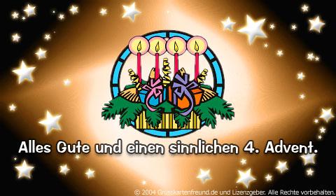 Alles Gute und einen sinnlichen 4. Advent