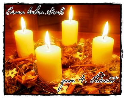 Einen lieben gruß zum 4. Advent