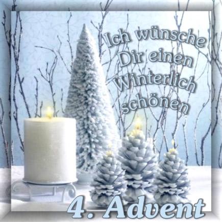 Ich wünsche Dir einen Winterlich schöen 4. Advent