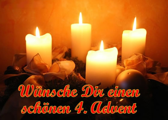 Wünsche Dir einen schöen 4. Advent