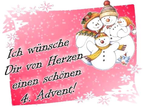 Ich wünsche Dir von Herzen einen schönen 4. Advent!
