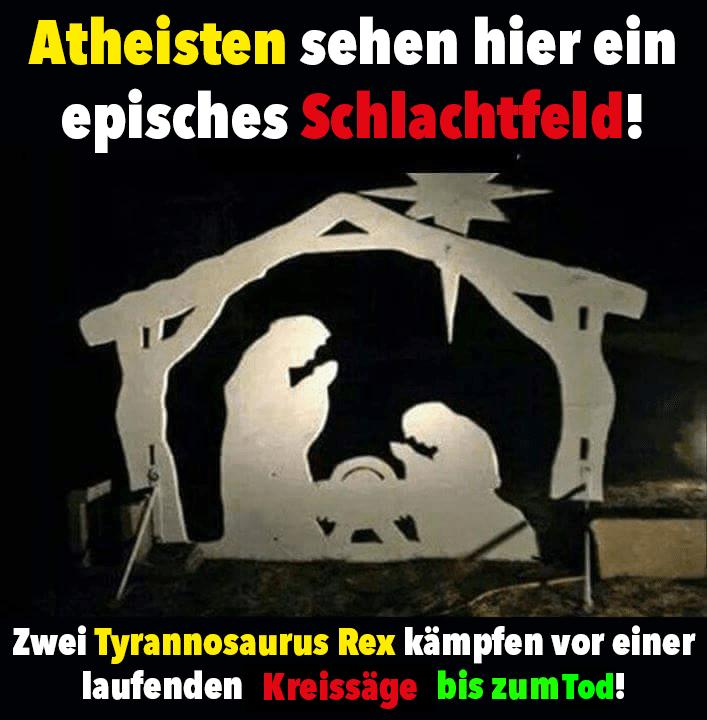 Atheisten sehen hier ein...