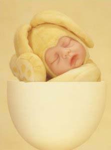Baby mit Osterhasenverkleidung...