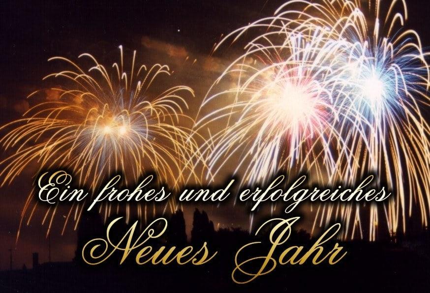 Ein frohes und erfolgreiches neues Jahr.