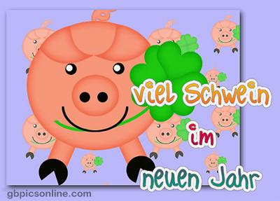 Viel Schwein im neuen Jahr