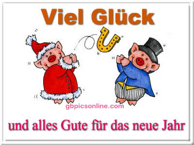 Viel Glück und alles Gute für das neue Jahr.