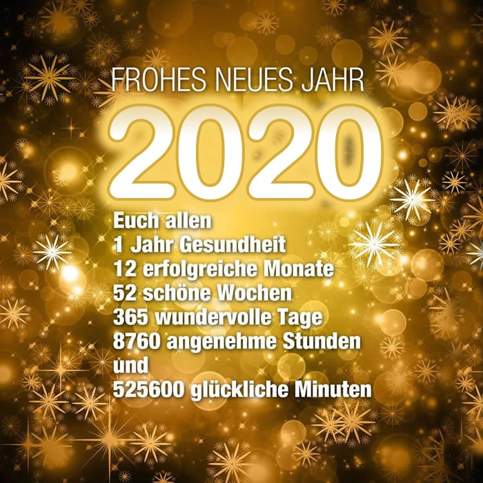 FROHES NEUES JAHR 2020. Euch...