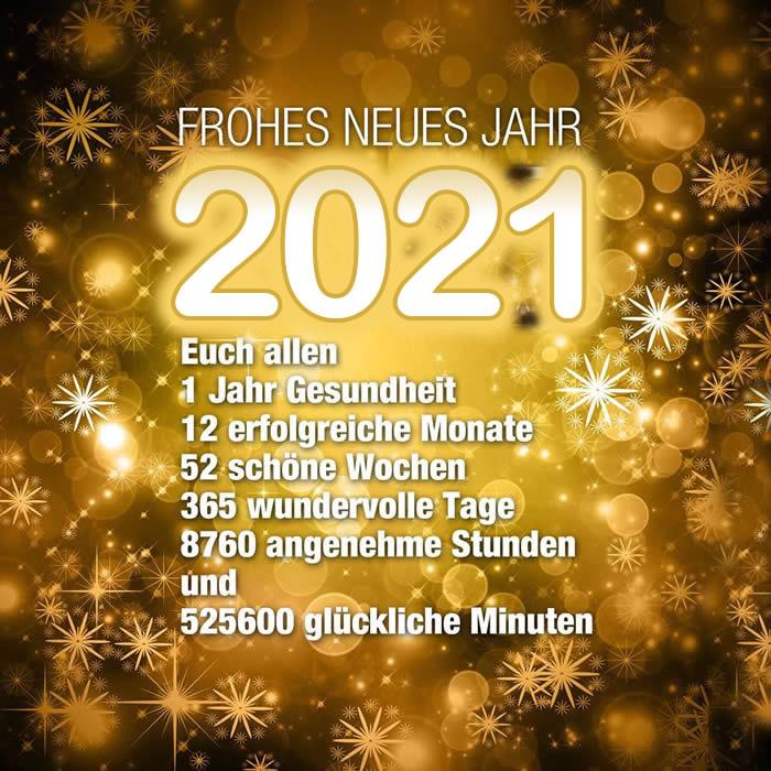 FROHES NEUES JAHR 2021. Euch...