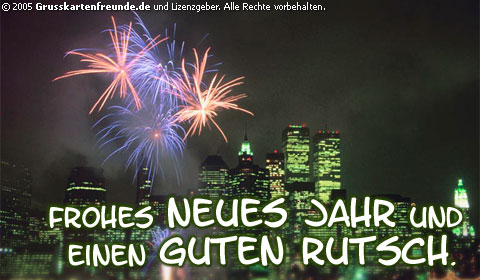 Frohes Neues Jahr und einen...
