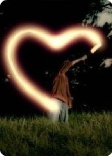 Lichtmalerei von einem Herz