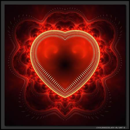 Herz gehüllt in rote...
