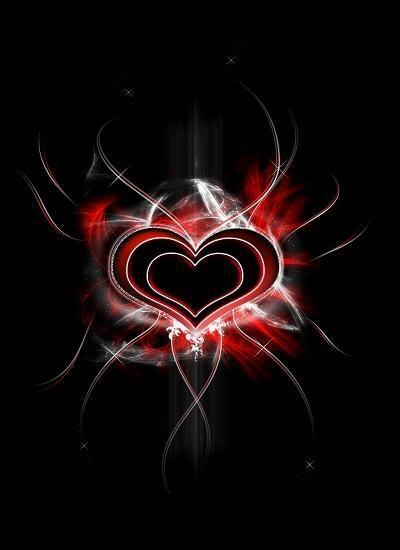 Mehrschichtiges Herz im Dunkel