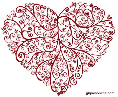 Herz aus floralen Mustern