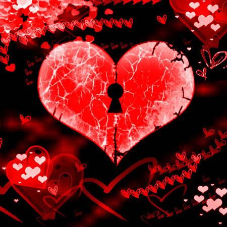 Herz mit Schlüsselloch