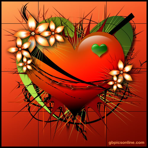 Herz versehen mit Blüten...