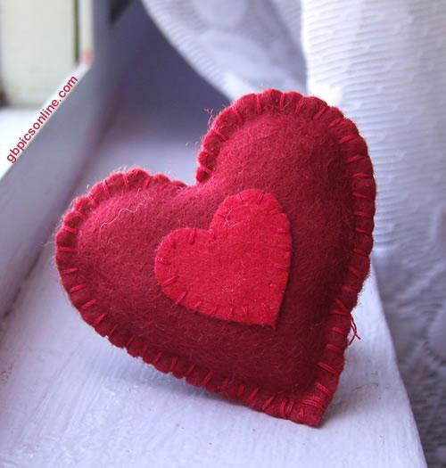 Selbstgemachtes Herz-Kissen