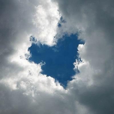 Ein Herz durchbricht die...