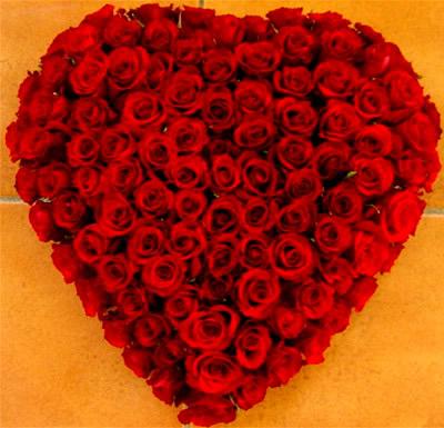 Wenn man mit Rosen am Valentienstag...