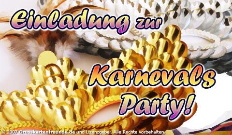 Einladung zur Karnevals-Party!