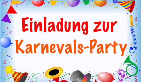 Einladung zur Karnevals-Party