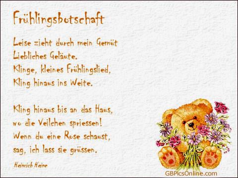 """Frühlingsbotschaft..."